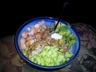 avacado, baby cucumber, cream cheese, cucumber, recipe, recipes, shrimp, sushi,