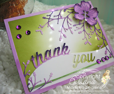 how to color die cuts thank you card last view