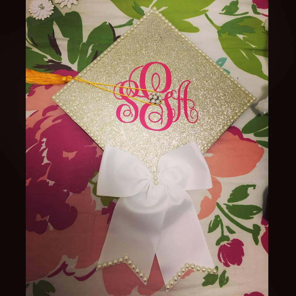 The Southern Brunette: DIY Monogrammed Graduation Cap