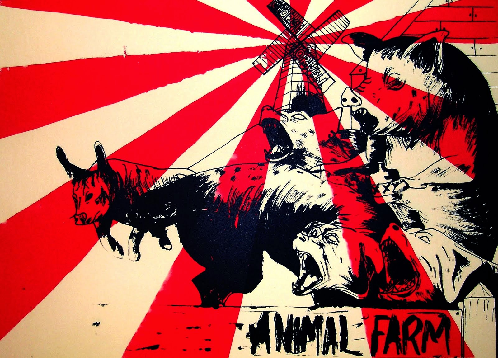 the analogy of the russian revolution portrayed in the novel animal farm Propaganda plays a really important part in the russian revolution, and as a result propaganda was also one of the main themes in animal farm in the novel, george orwell portrayed the manipulation of speech through a character named squealer, a pig who acted as a spokesperson for napoleon.
