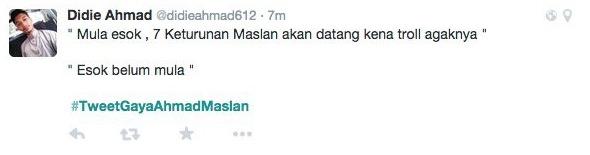 10 Tweet Gaya Ahmad Maslan Paling Kelakar