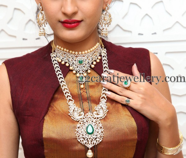 Swetha Jadhav Huge Diamond Jhumkas