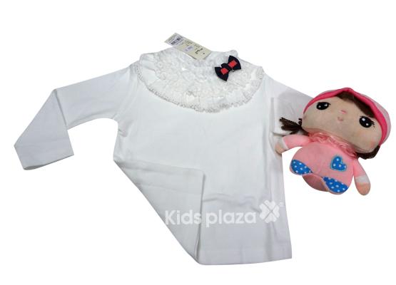 Áo-dài-tay-cotton-bé-gái-đính-nơ-Meigiao