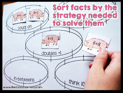 FREE Math Fact Strategy Sort Activity