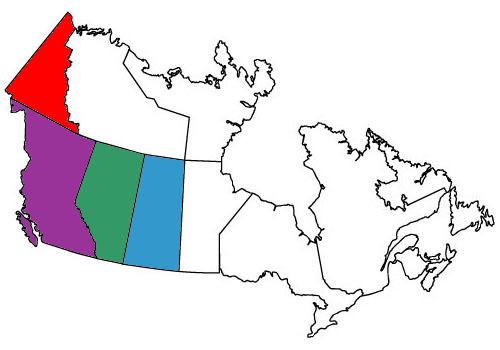 Provinces Ridden in...