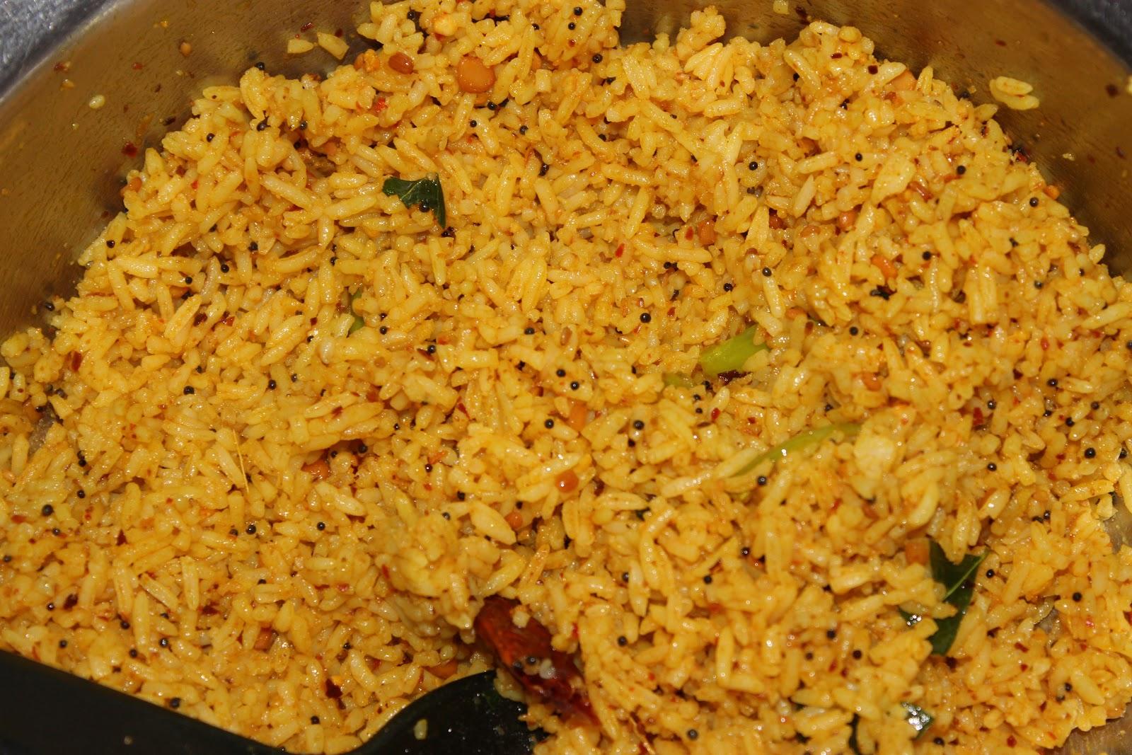 Uma Ki Rasoi: Instant Pulihora (Tamarind Rice) - Andhra Style