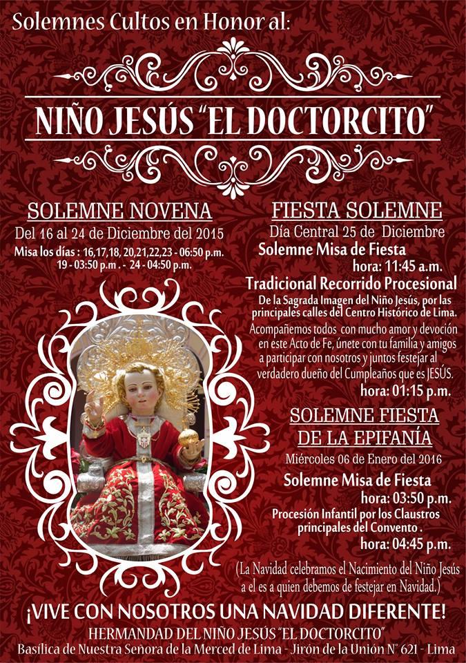"""NIÑO JESÚS """"EL DOCTORCITO"""" en LIma"""