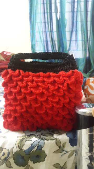 crochet strawberry purse