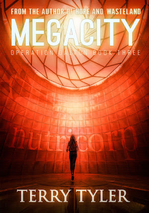 Book 3, Operation Galton dystopian trilogy.  What lies behind the shiny, welcoming facade?