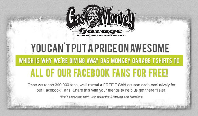 Gas Monkey Garage will be giving away FREE T-shirts once they hit