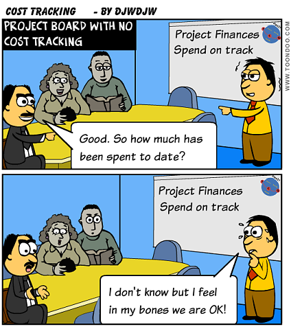 Ensure you are tracking your Project costs