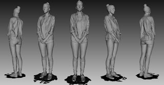Usando el escáner 3D Eva se puede escanear un cuerpo entero