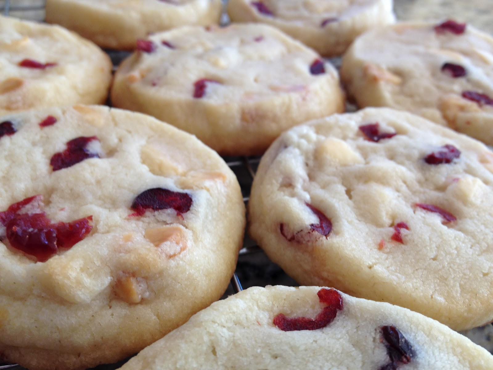 The Nerdy Chef: White Chocolate Cranberry Cookies