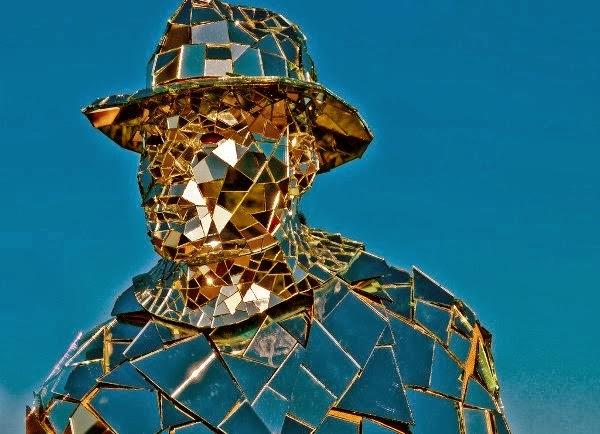 Mirror Man Showing Human Flaws