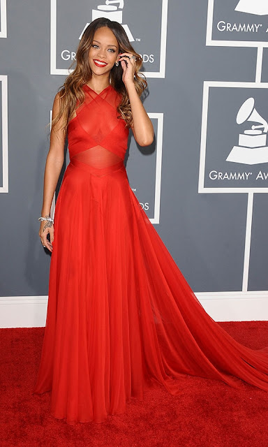 Rihanna Grammys 2013 outfit