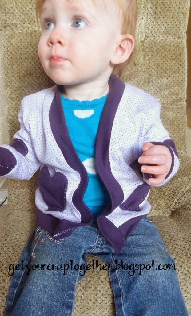 V-Neck Cardigan from Peekaboo Patterns by GYCT