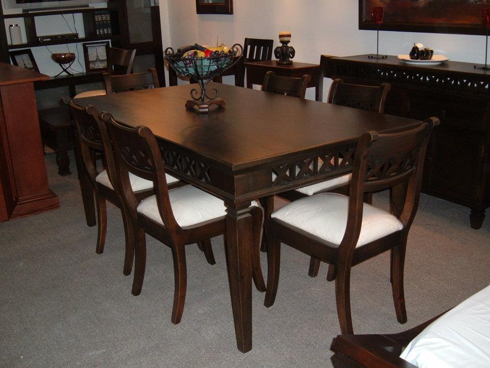 El artesano del mueble juegos de comedor for Comedor 8 puestos