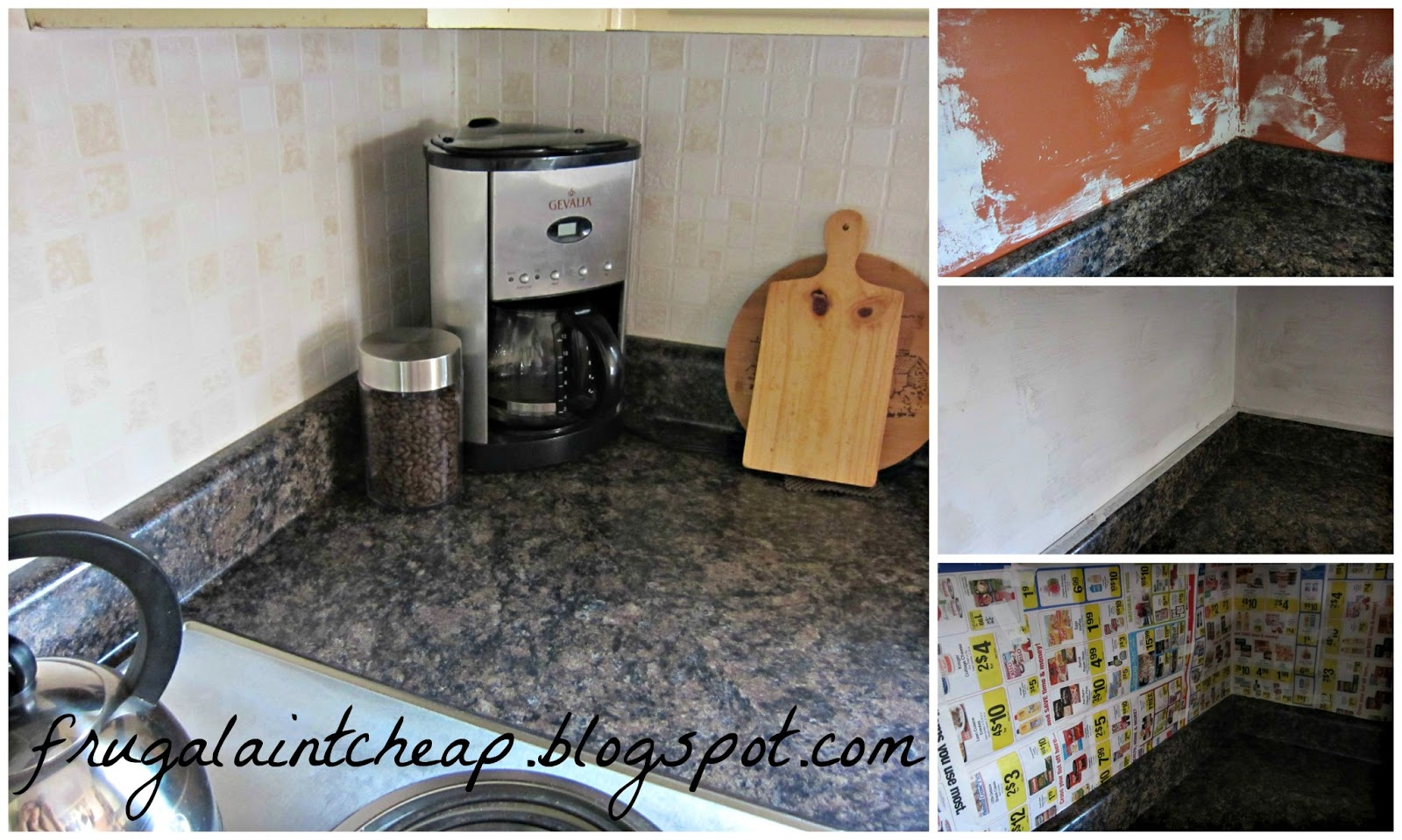 Kitchen Backsplash For Renters Frugal Aint Cheap Kitchen Backsplash Great For Renters Too