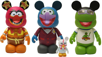 The Muppets Disney Vinylmation Series 2 - Animal, Gonzo with Camilla & Kermit 9 Inch Vinyl Figure