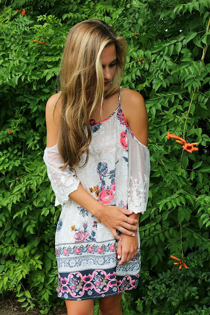 For your beautiful Summer #Free_Spirit_Summer_Floral_Dress