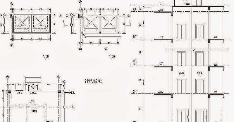 Elevation Sur Un Plan : Cage d ascenseur à deux cabines fichier autocad dwg