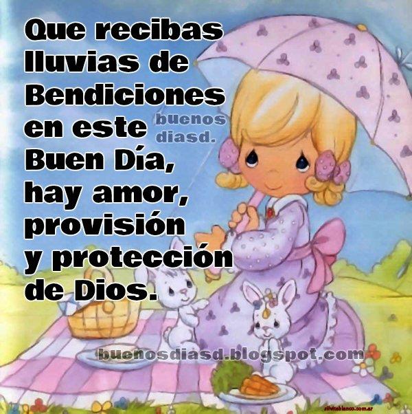 Mensaje cristiano de buenos días con bendiciones para amigos facebook y bonita imagen cristiana por Mery Bracho.  Buen día para ti y para mí.