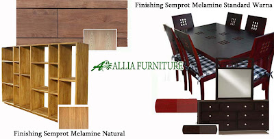 Finishing Semprot Melamine Natural & Standard Warna