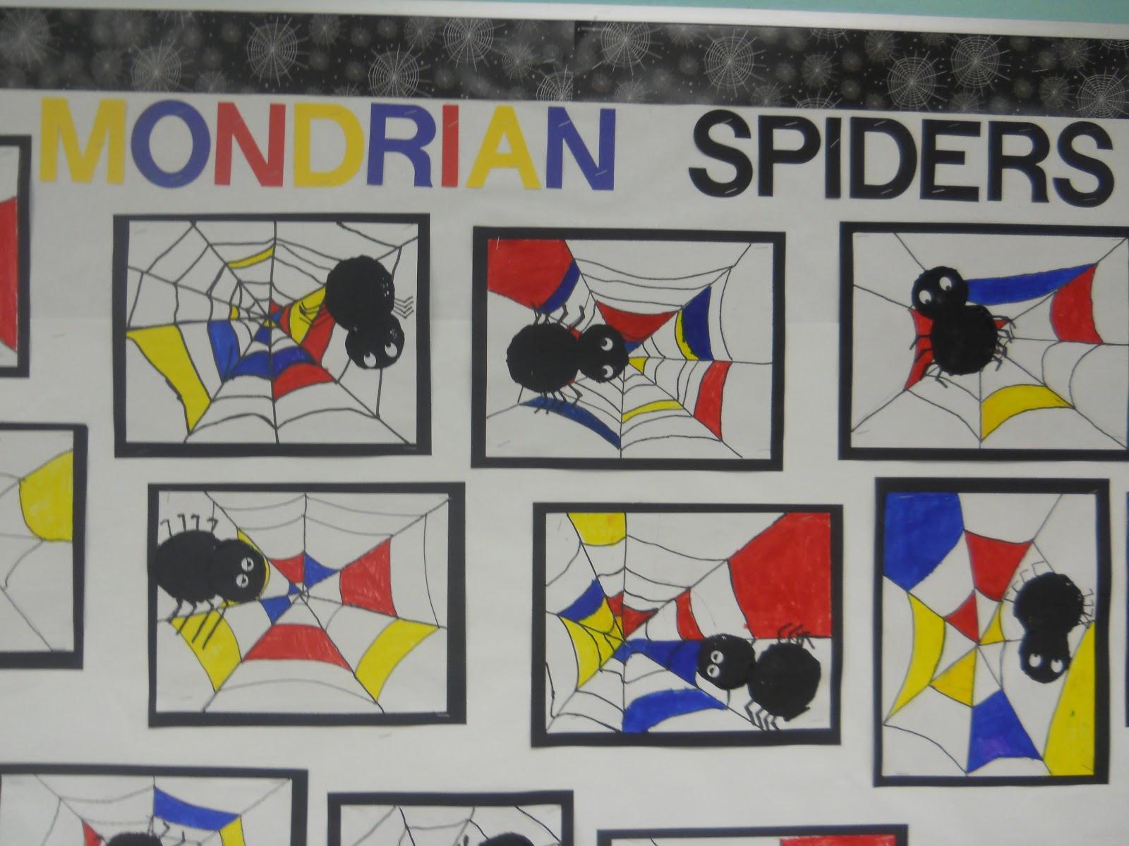 mondrian spider art
