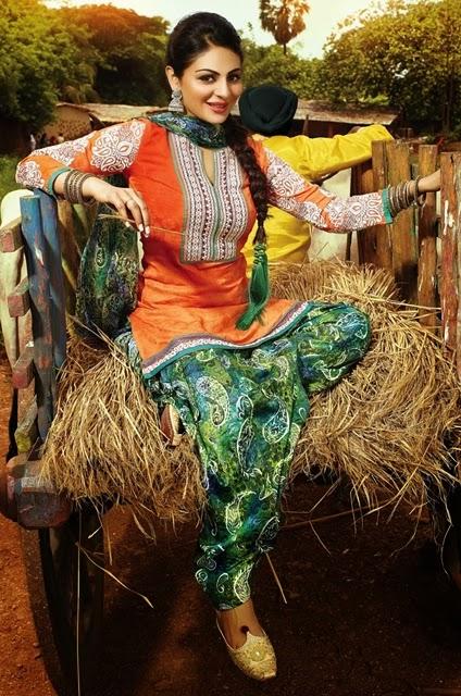 Punjabi salwar kameez suits 2014 15 cotton made punjabi salwar