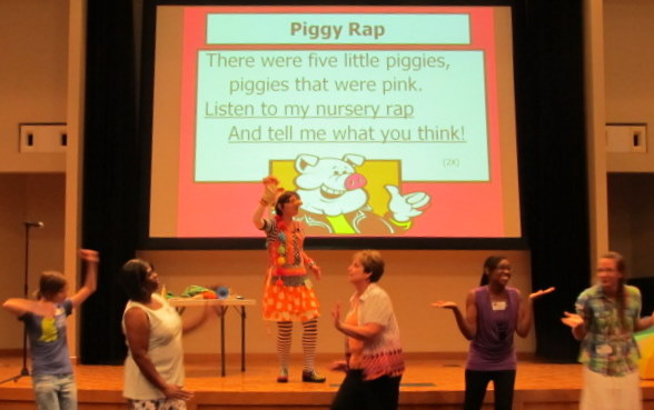photo of: The Piggy Rap: Debbie Clement's dittie for the five little piggies
