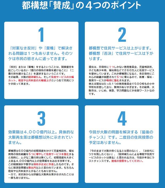 構想「賛成」の4つのポイント