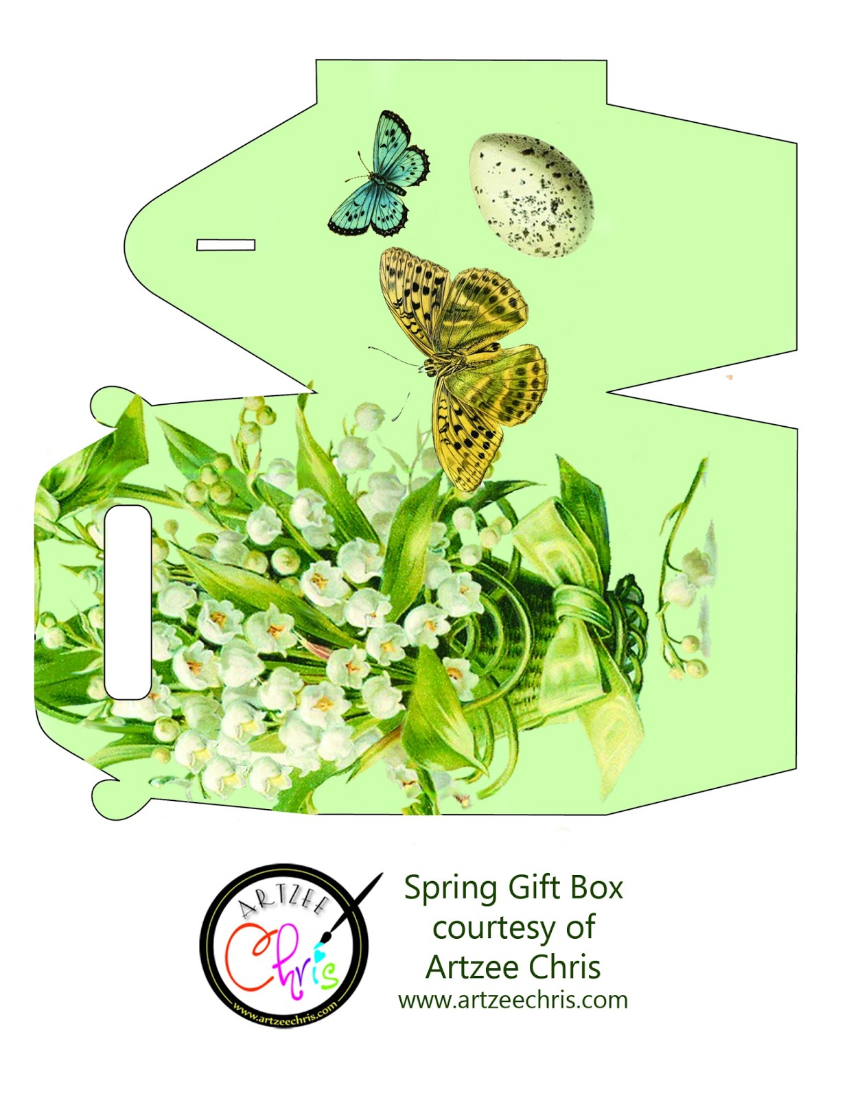 The artzee blog free lily of the valley sping gift box printable free lily of the valley sping gift box printable negle Image collections