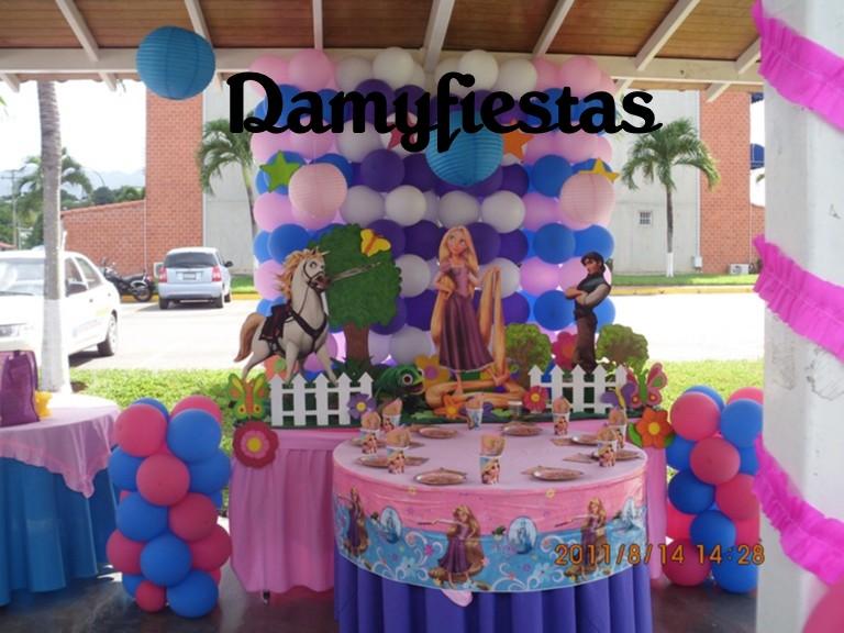 Decoración fiesta infantil de rapunzel - Imagui