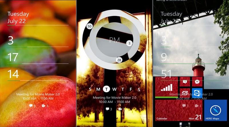 lockscreen windows phone