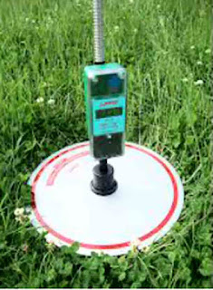 Optical measuring device placed in pastures paddock