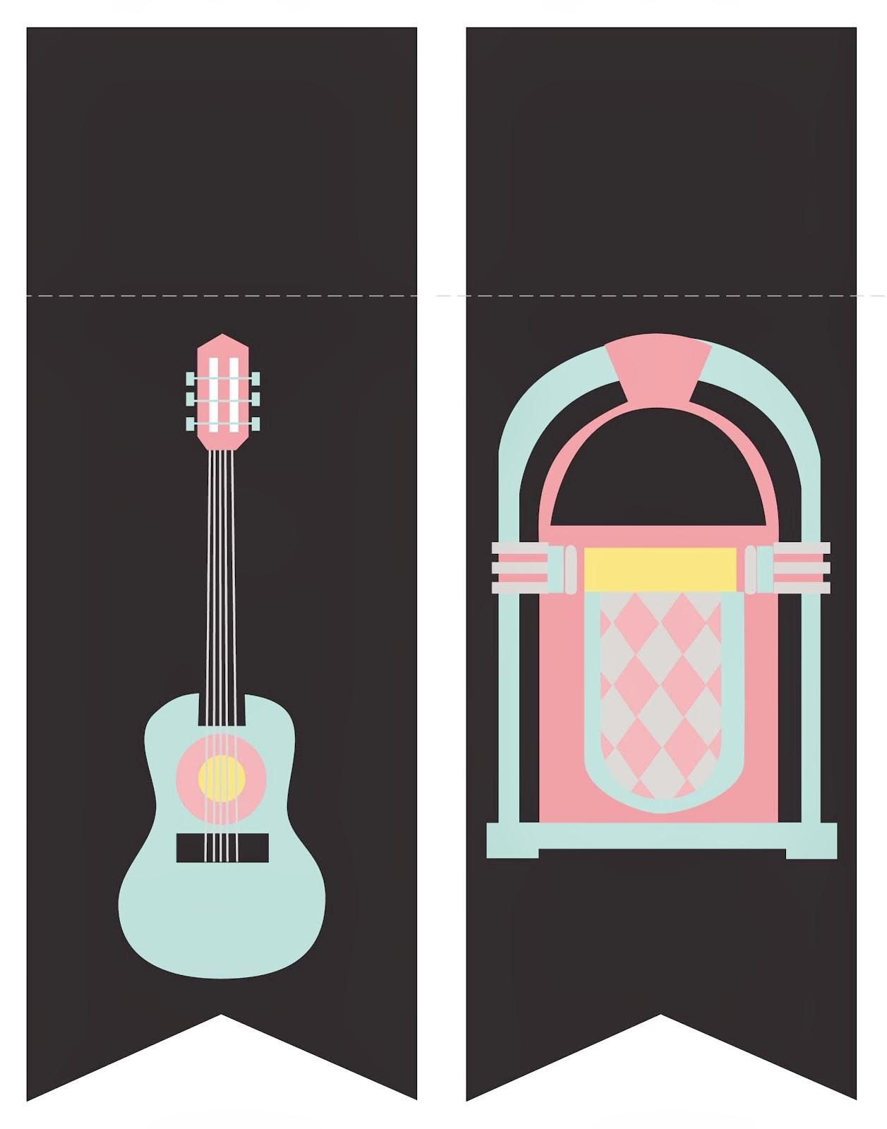 Mini kit de los a os 50 para imprimir gratis ideas y - Musica anos 50 americana ...