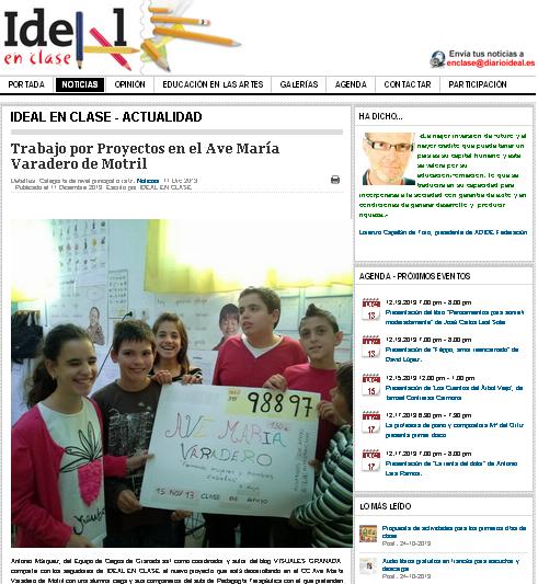 IDEAL-EN-CLASE recoge nuestro proyecto