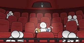 kino, samotność, pary, kochankowie, walentynki, odosobnienie