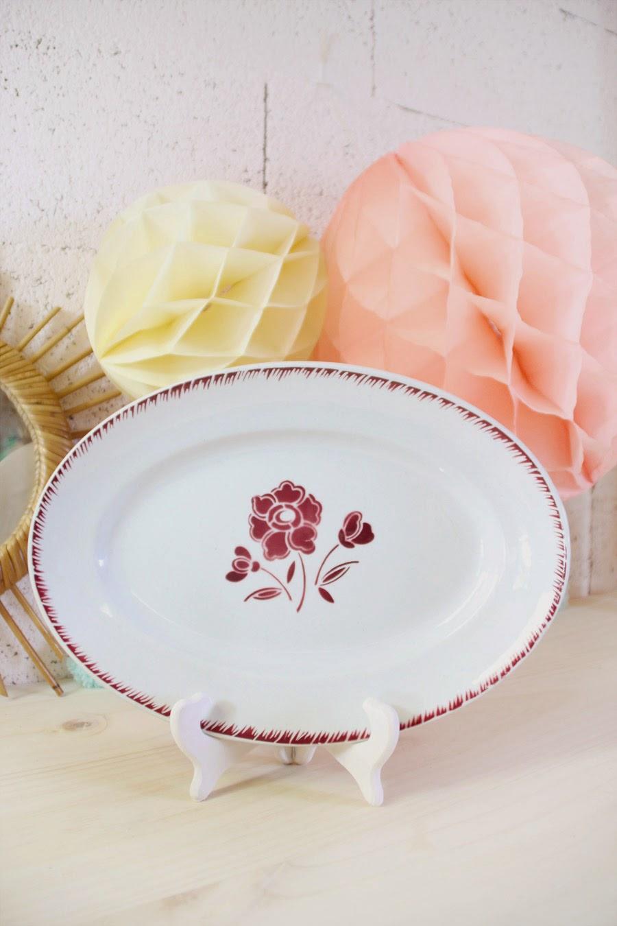plat vintage cuisine rétro déco maison vintage vaisselle