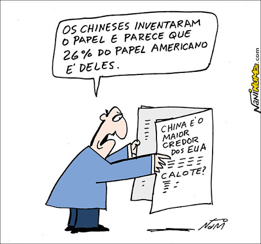 calote americano. China teme calote americano