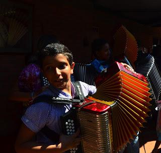 Estudiantes de la Academia Vallenata de El Turco. Foto: Jorge Bela