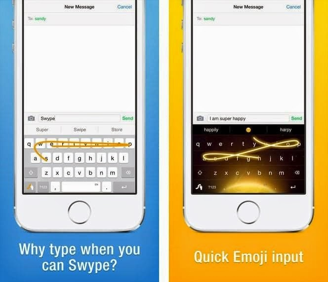 Teclado alternativo Swype para Android, iPhone e iPad