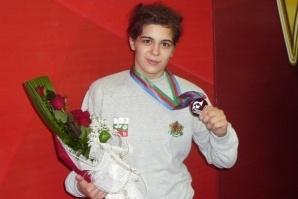 Тайбе Юсеин на Световното първенство по борба в Канада