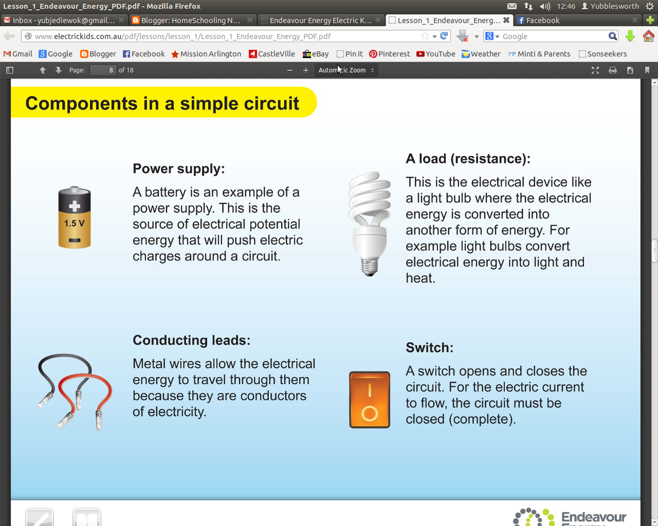 Homeschooling Notepages Simple Electric Circuits Electrical Circuit And The Electrons Are Not Able To Flow Around When Switch Is Turned On It Closes Gap Electricity Move Make
