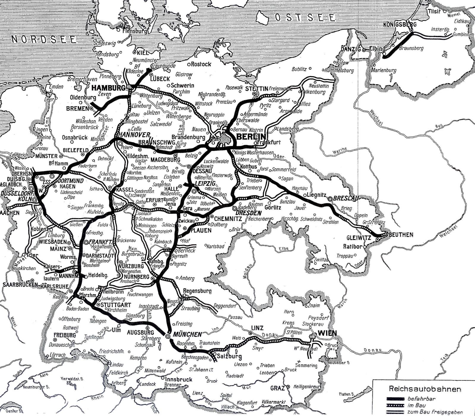 Landkartenblog: Deutschlandkarte von 45 zeigt die ... - Deutschland Karte 1939
