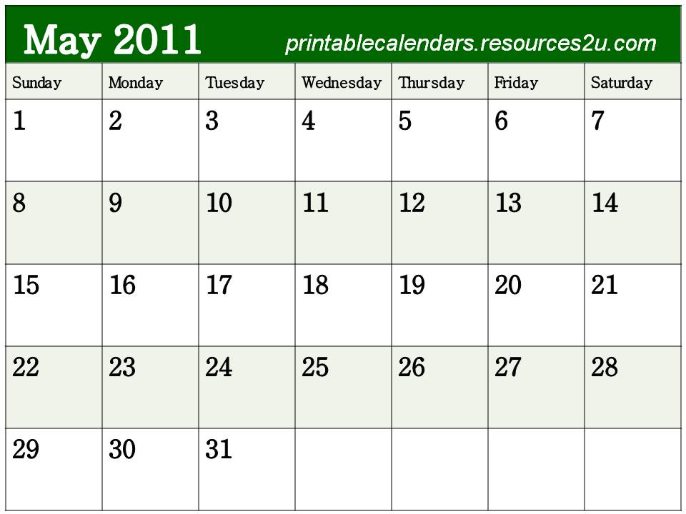 free printable blank calendars 2011. See other Free 2011 Calendars