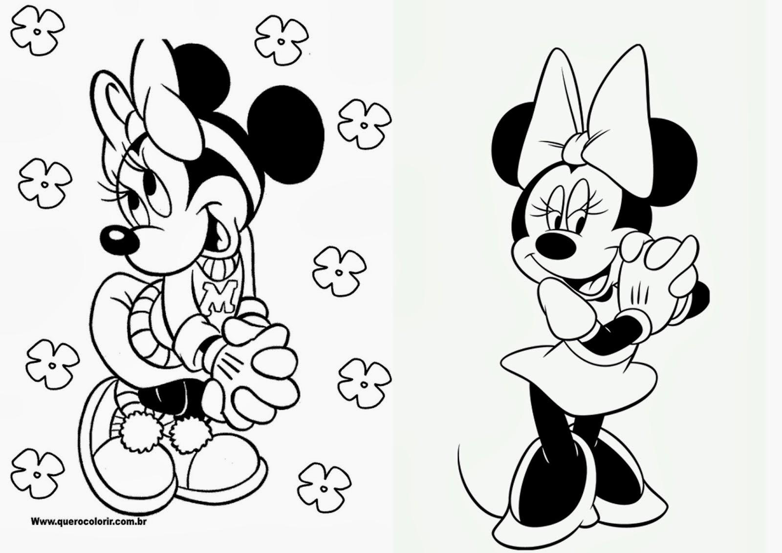 Minnie Libro para Colorear para Imprimir Gratis  Ideas y