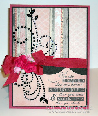 Stamps - Artistic Outpost.  My Minds Eye Ruby Pattern Paper, Zva Creative Flourish and Roses
