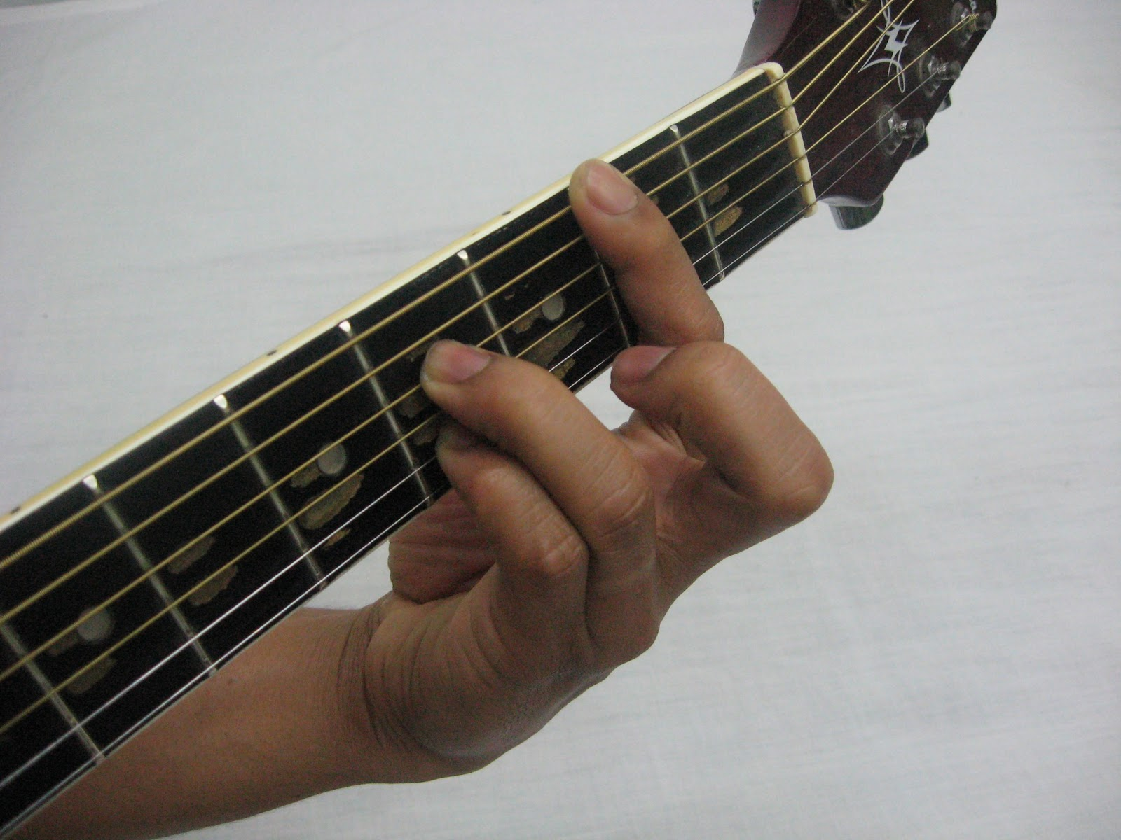 a barre dominant 7th chord  D Minor 7 Chord Guitar Finger Position