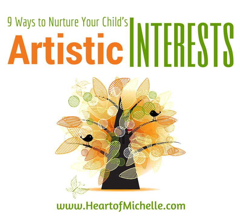 Adding art to your homeschool includes nurturing your child's artistic interests. Here are 9 tips for doing just that. #homeschool #art